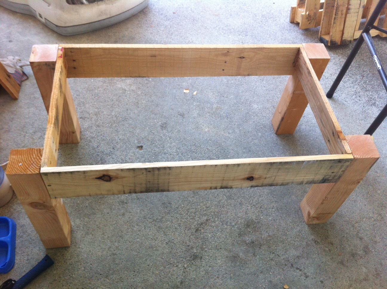 Pallet furniture coffee table - It