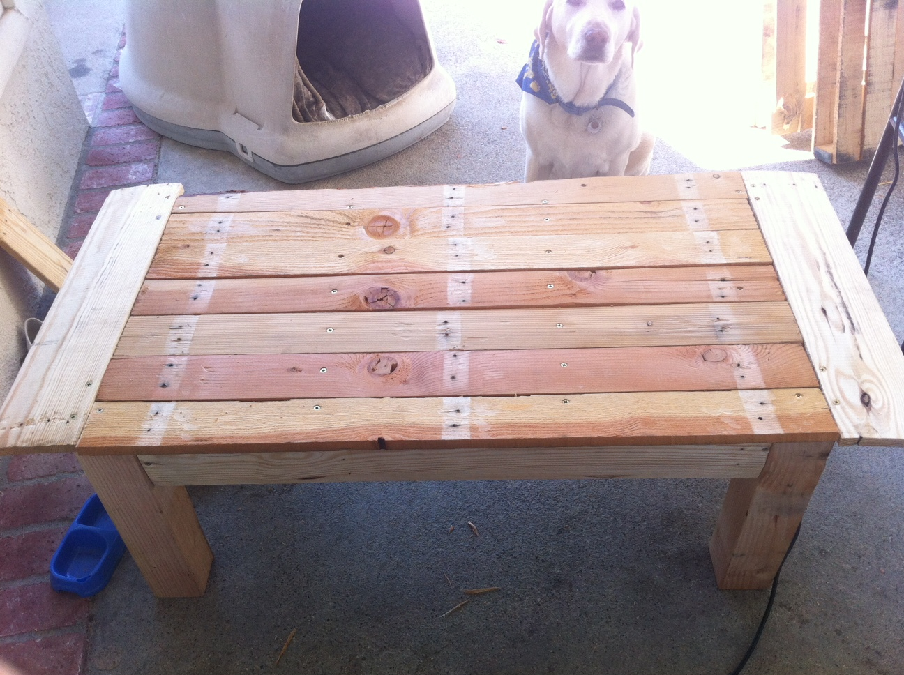 Wood Pallet Table Top Pallet Coffee Table Little Bits Of