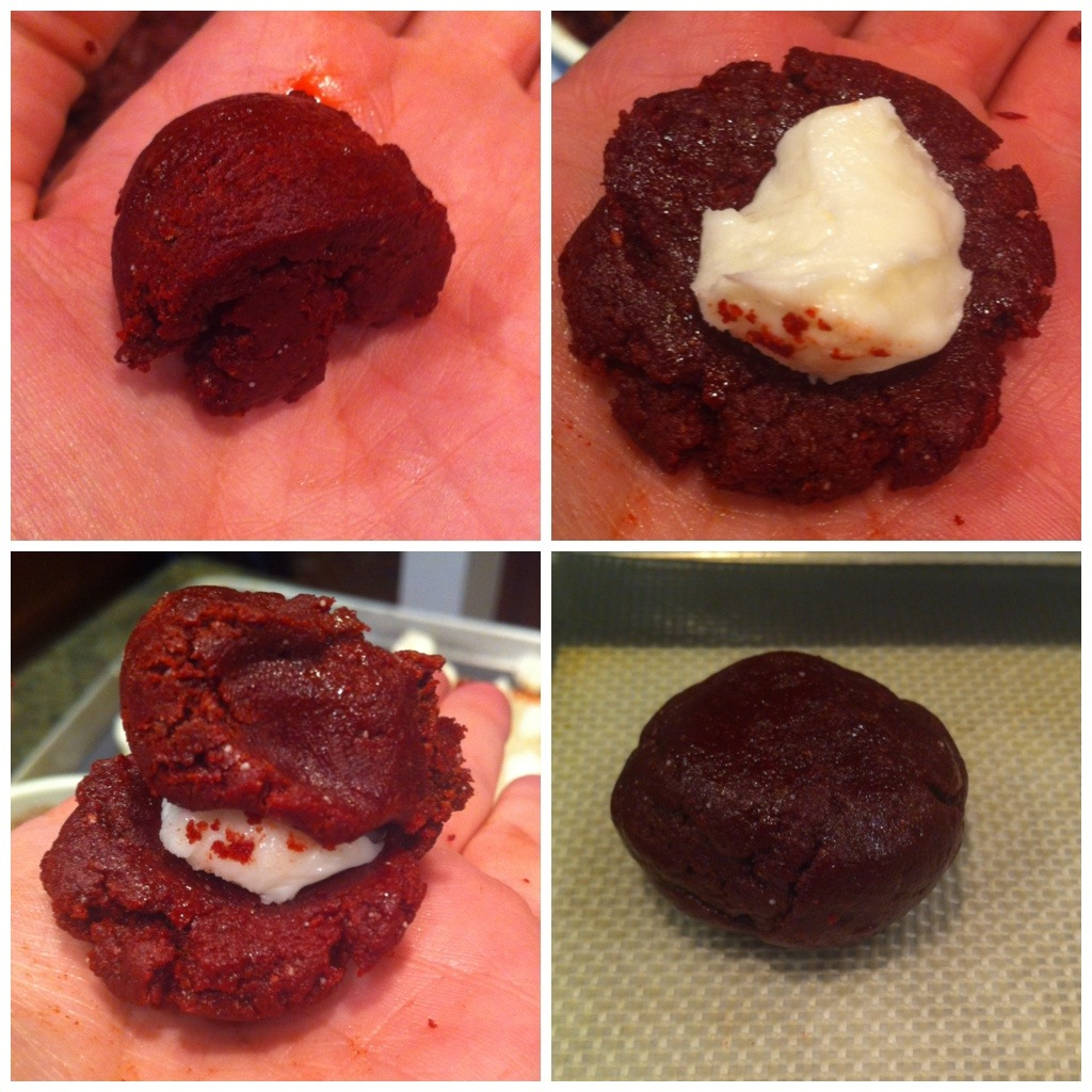 Red Velvet Cheesecake Cookies - Little Bits of...