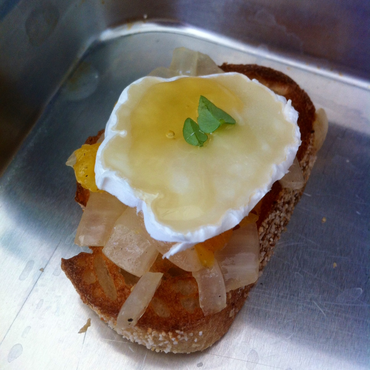 Apricot & Brie Crostini with Golden Honey - Little Bits of...