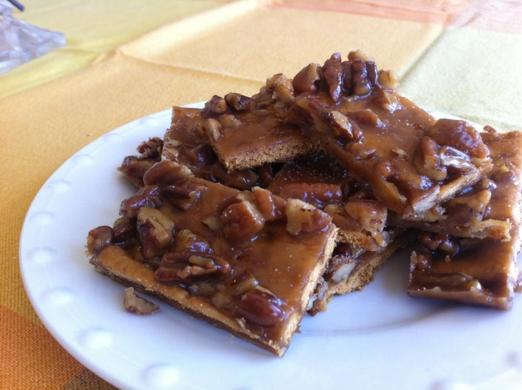 Salted Caramel Pecan Bars - Little Bits of...