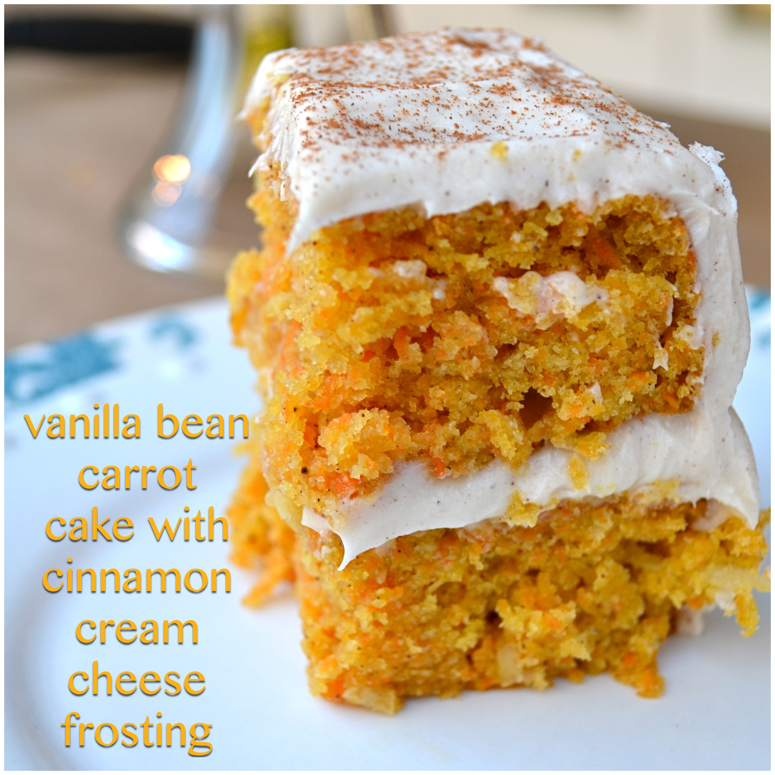 Vanilla Bean Carrot Cake with Cinnamon Cream Cheese Frosting - Little ...