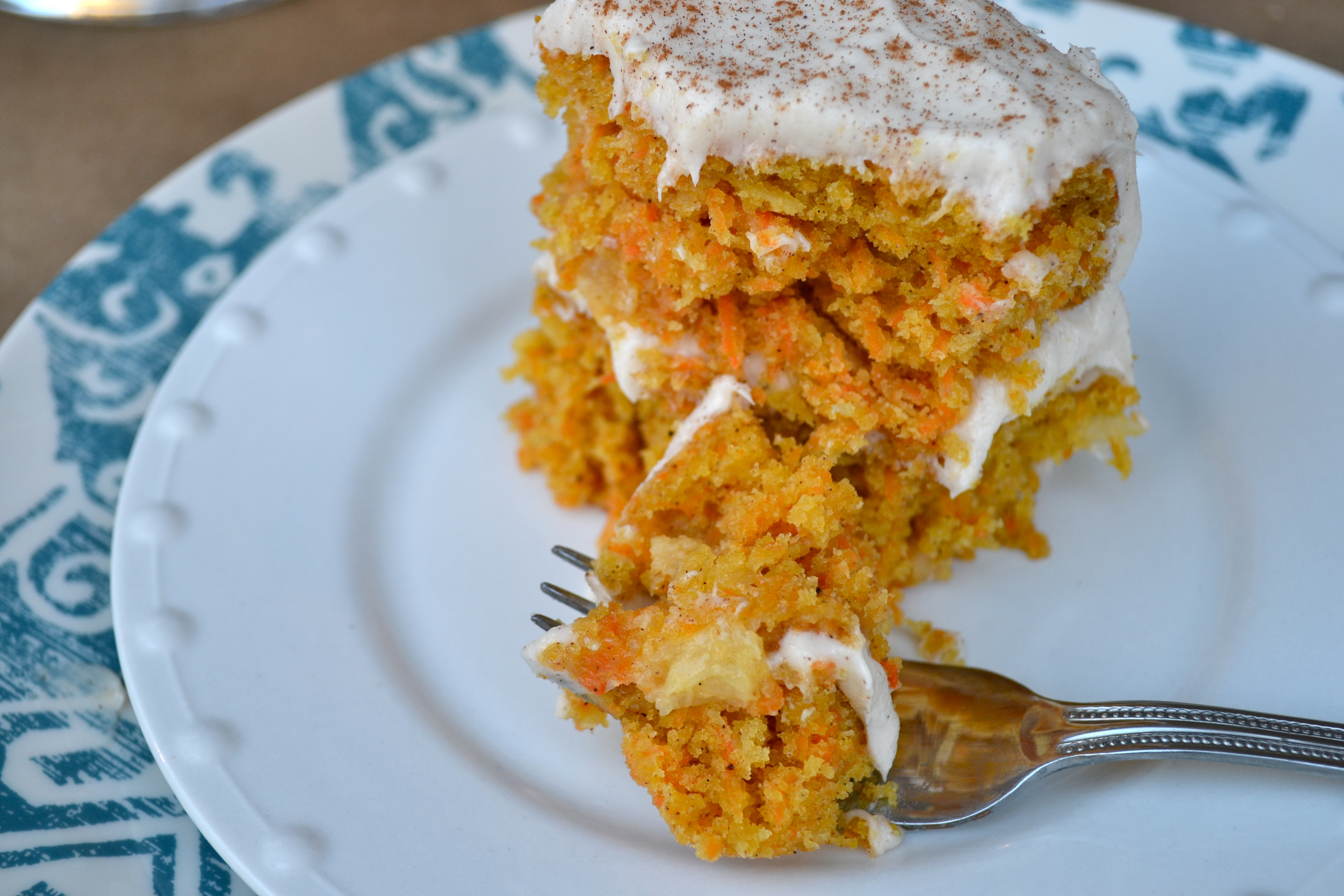 Vanilla Bean Carrot Cake with Cinnamon Cream Cheese ...