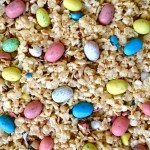 Malted Rice Krispie Treats w/ Robin Eggs