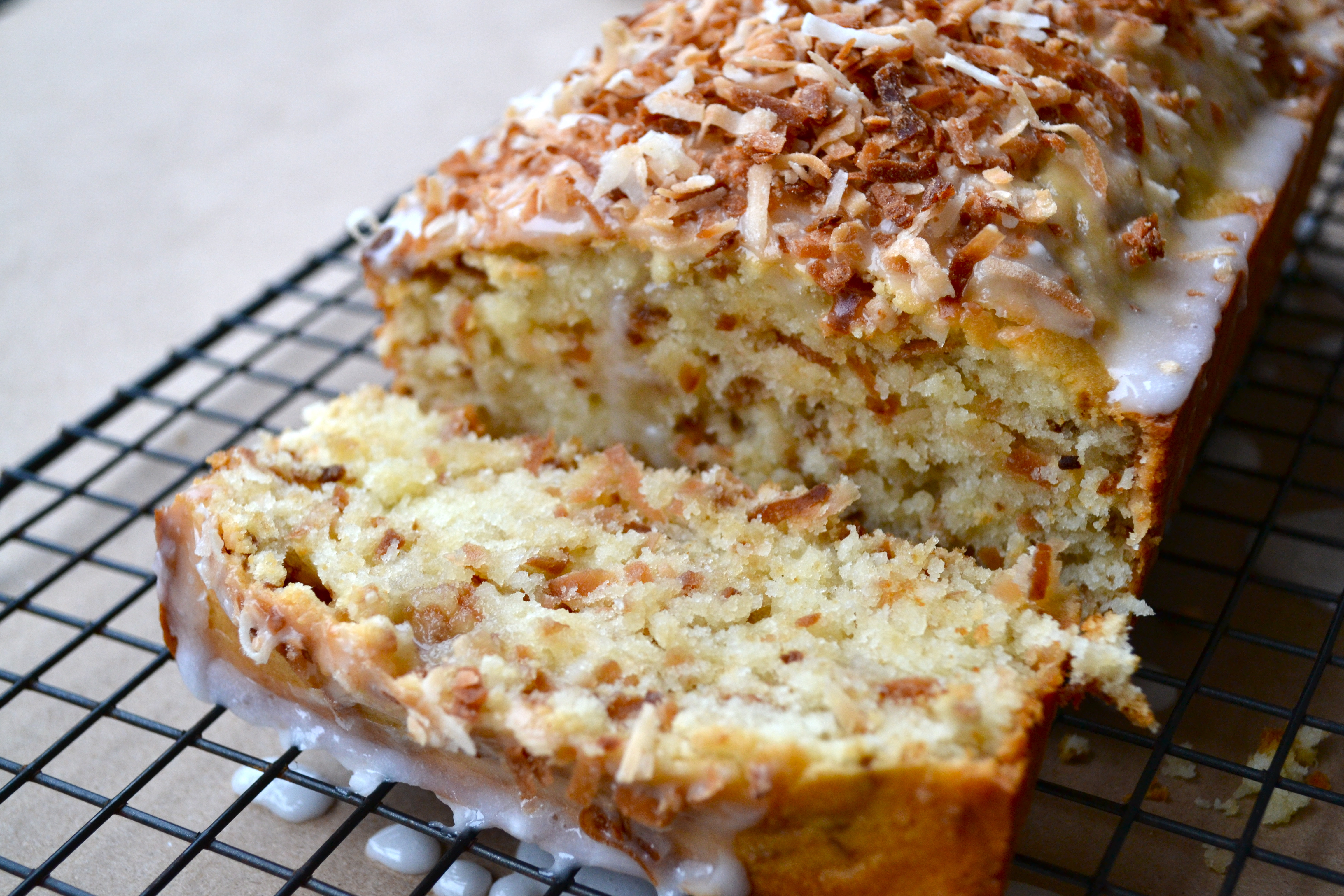 Toasted Coconut Pound Cake - Little Bits of...