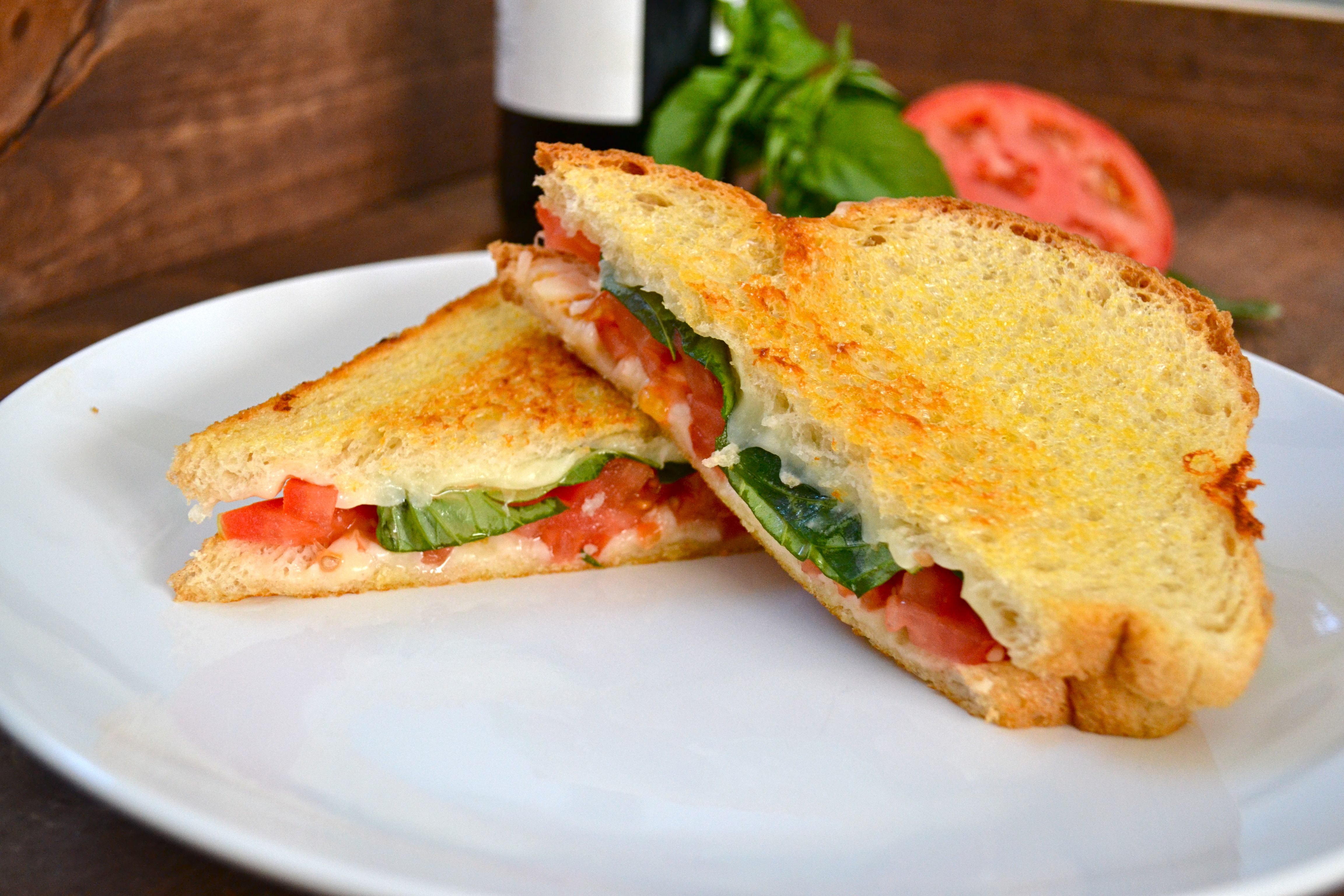 Caprese Grilled Cheese - Little Bits of...
