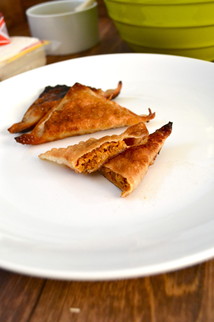 Sweet Sausage & Pumpkin Potstickers - Little Bits of...