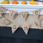 DIY Pendant Banner: Give Thanks