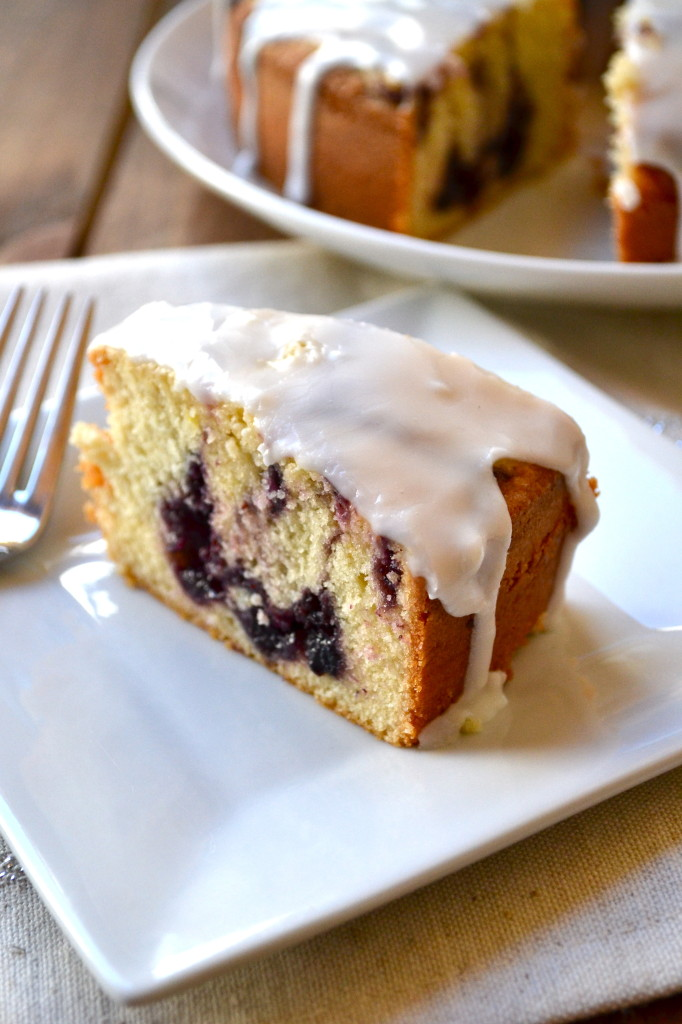 Lemon Pound Cake with Blueberry Filling
