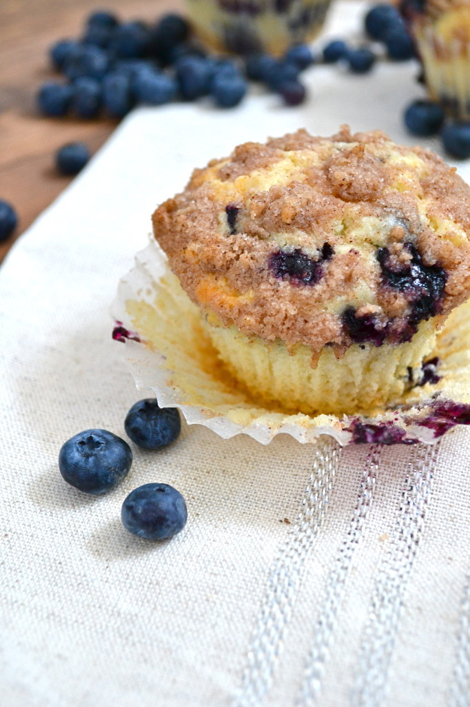 Blueberry Muffins with Cinnamon Streusel Topping - Little ...