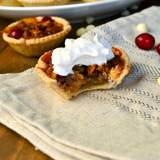 Pecan, White Chocolate & Cranberry Tarts