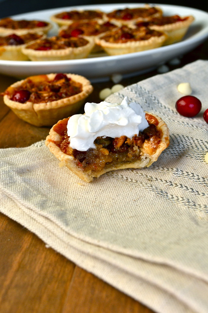 Pecan, White Chocolate & Cranberry Tarts - Little Bits of...
