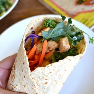 Low Calorie Thai Chicken Wrap