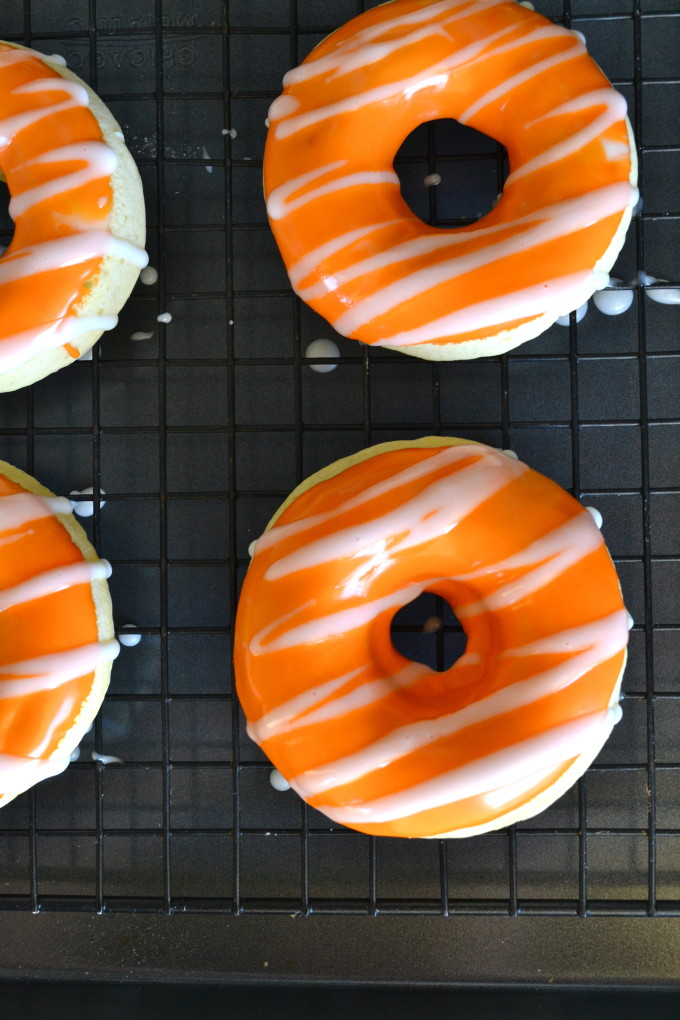Baked Orange Creamsicle Donuts