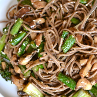Miso Glazed Asparagus & Soba Noodle Salad