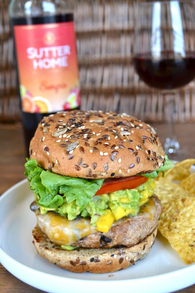 Taco Turkey Burger with Mango Guacamole