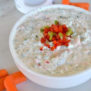 Veggie Loaded Yogurt Dip