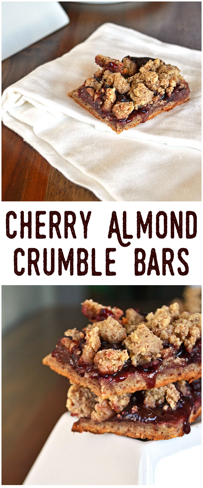 Cherry Almond Crumble Bars - Little Bits of...