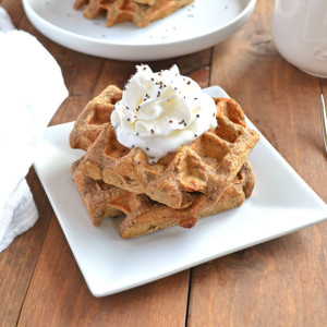 Gingerbread Chia Seed Waffles