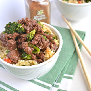 When you are craving chinese food on Whole30 this 5 Spice Beef & Broccoli hits the spot!  Simple to throw together, and full of flavor thanks to Simply Organics 5 Spice Powder! Paleo// healthy