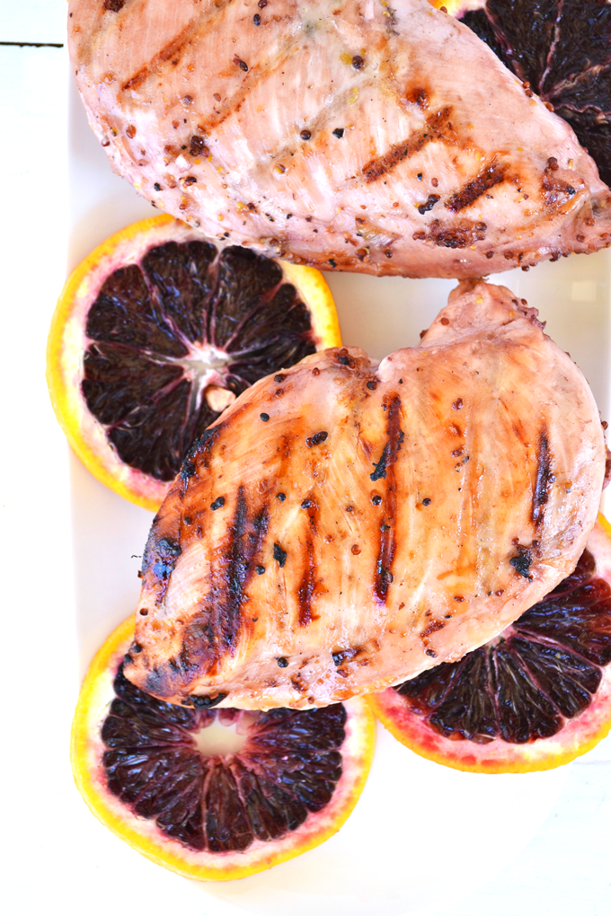 Blood Orange Marinated Chicken - Little Bits of...