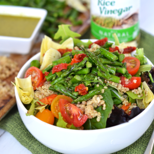 Asparagus & Quinoa Salad with Pesto Vinaigrette