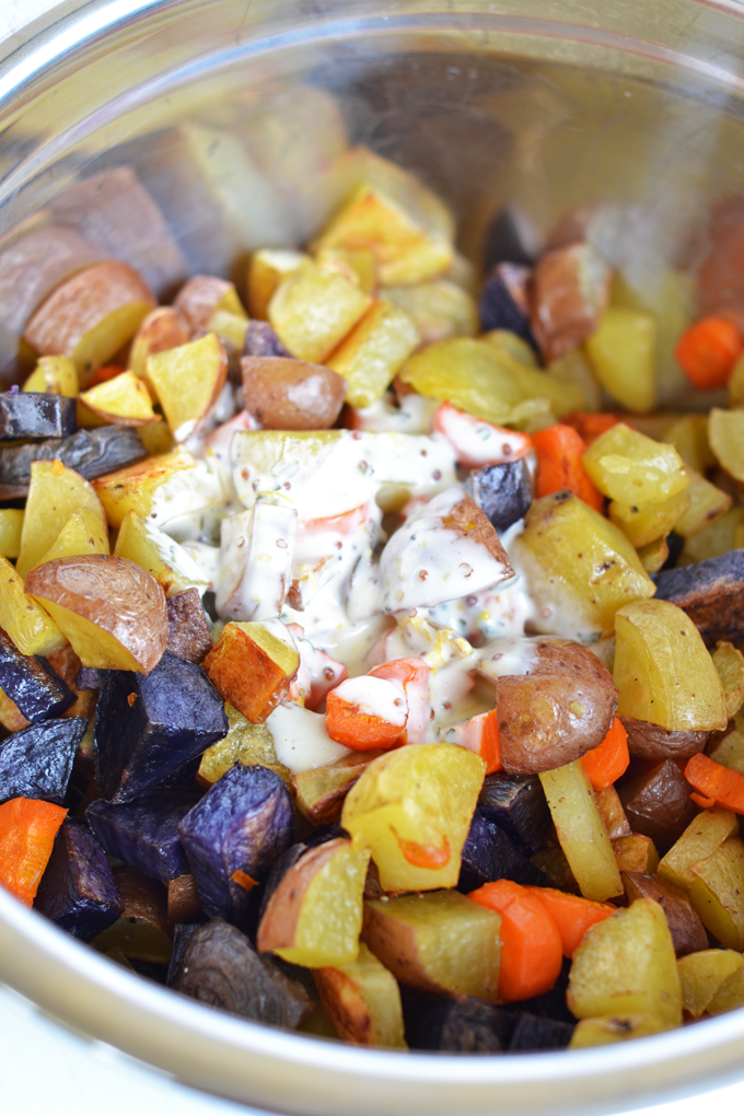 This Tarragon Roasted Potato & Carrot Salad is the perfect side dish ...