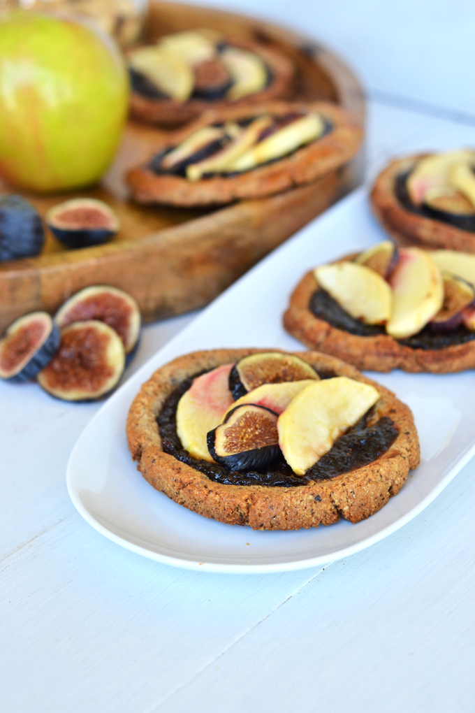 These Paleo Apple & Fig Tartlets are the perfect grain-free dessert for fall! These come together fast and everyone will love them!