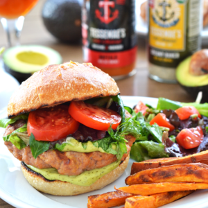Buffalo Turkey Burger w/ Avocado Ranch Sauce