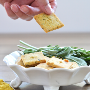 Paleo Herb Cheese Crackers