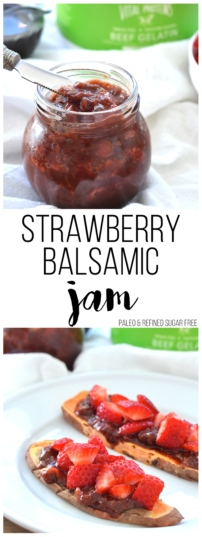 This Strawberry Balsamic Jam is paleo, low in sugar and perfect for ...