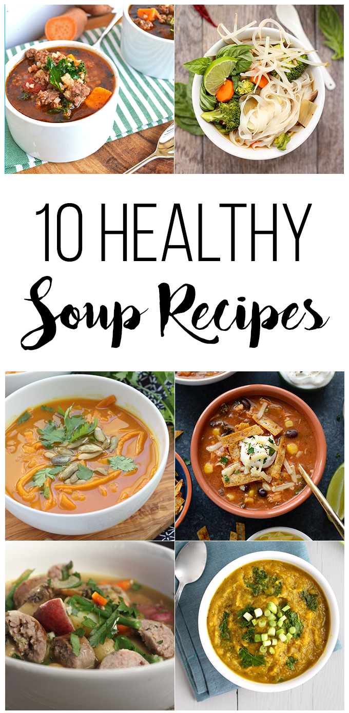 10 Healthy Soup Recipes for the colder months!
