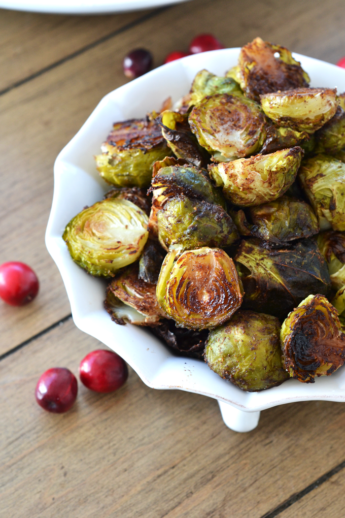 These Chai Spiced Brussels Sprouts are the perfect side dish for any fall meal! Paleo and Whole30 approved!