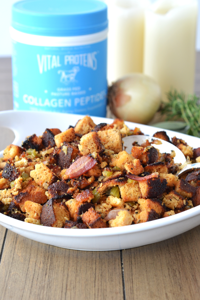 Grain Free Bacon Herb Stuffing is a great paleo & whole30 stuffing ...
