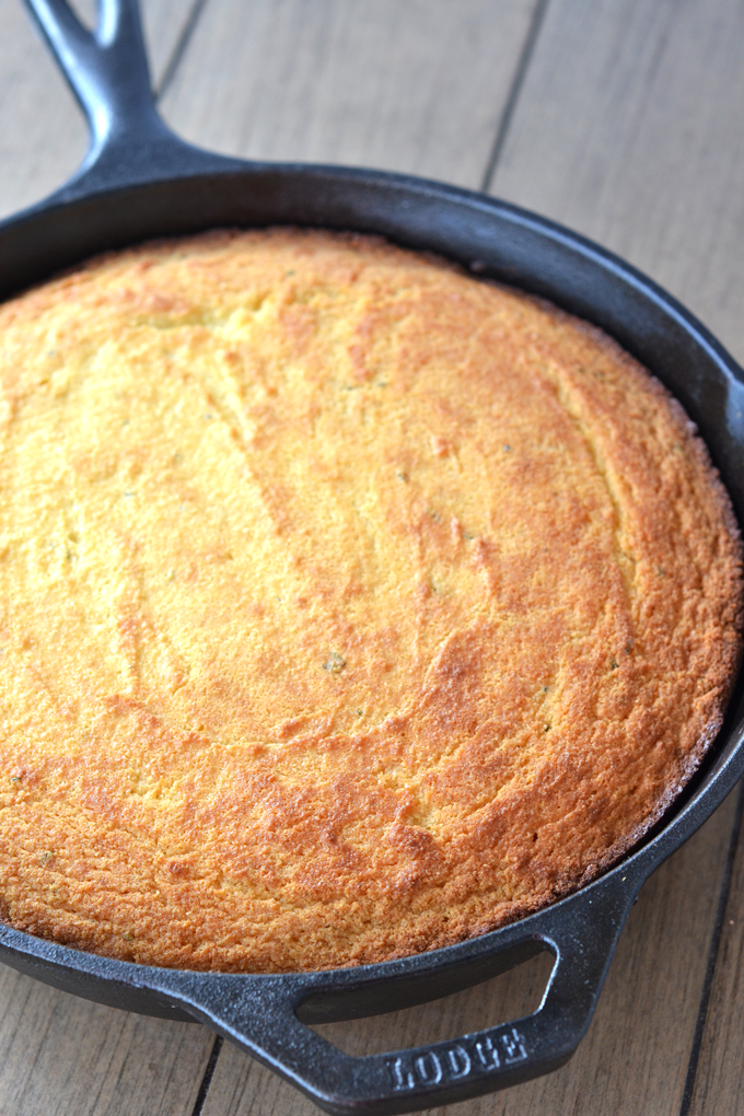 "Herbed ""corn"" bread?! OH YES."