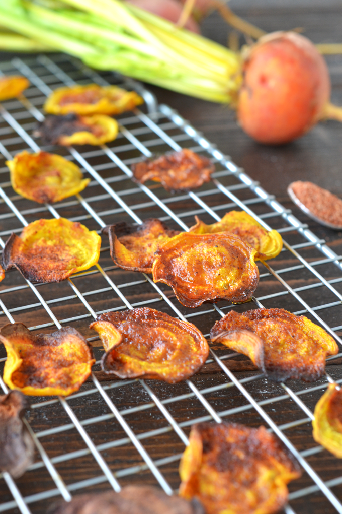 These BBQ Beets Chips are super easy to throw together for a healthy snack option! Whole30 and paleo approved with simple ingredients.