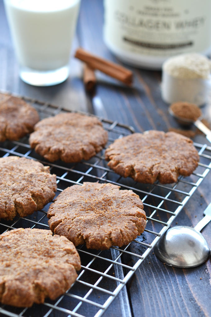 These Chai Spiced Protein Snickerdoodles are packed with protein and a perfect winter treat! They are grain free, refined sugar free and are a healthy option!