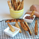 These Crispy Garlic Sweet Potato Wedges are perfect for a super crispy sweet potato fry! They are perfect for a party and are paleo and whole30 approved!