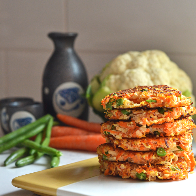 These Cauliflower Fried Rice Fritters are the perfect meal or appetizer that are Whole30 & Paleo approved! Full of flavor and packed with veggies!
