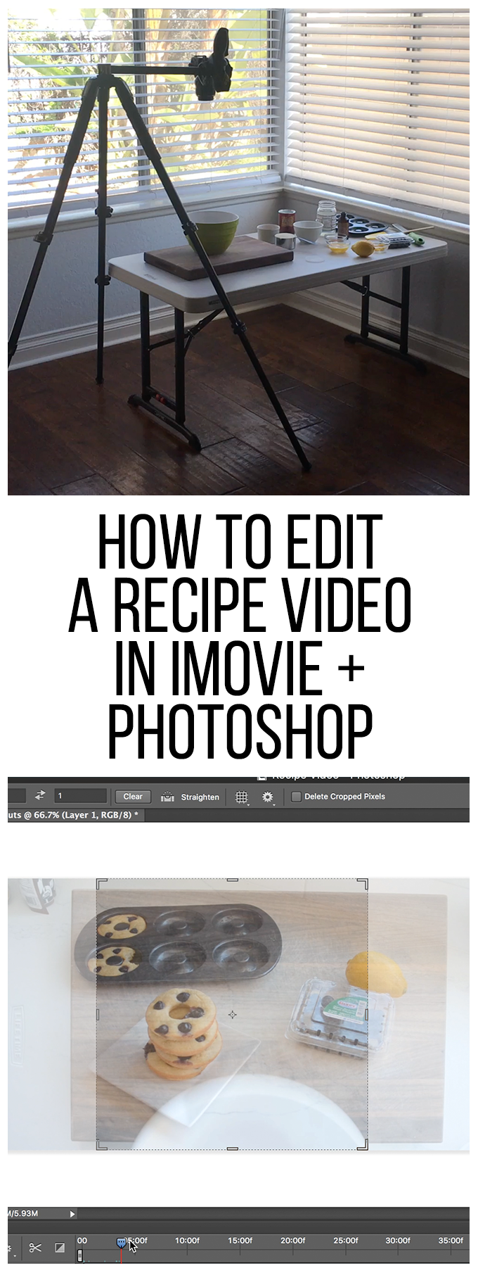 How to Edit a Recipe Video in iMovie & Photoshop