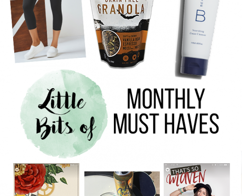 March edition of Little Bits of Monthly Must Haves - all of the food, beauty product and podcasts I am loving!