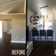 Before and after of my 5 week Kitchen Remodel!