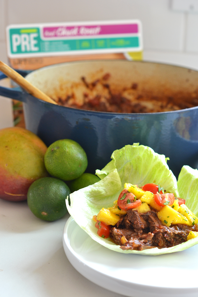 These Chipotle Beef Tacos with Mango Lime Salsa are paleo, Whole30 and ...