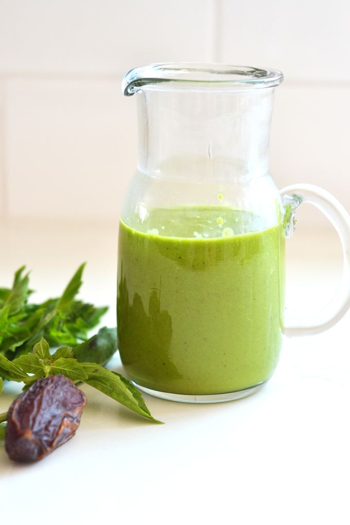 This Sweet Basil Dressing is Paleo and only a few ingredients!