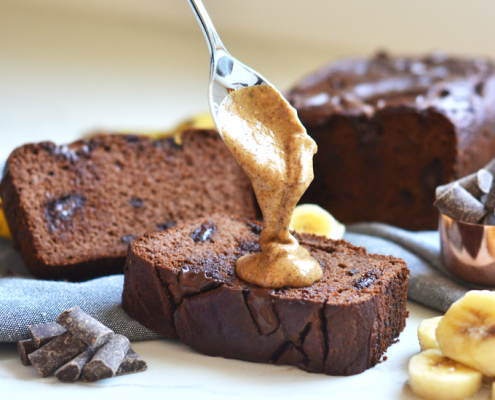 This Grain Free Double Chocolate Banana Bread is moist, sweet and loved by everyone!!