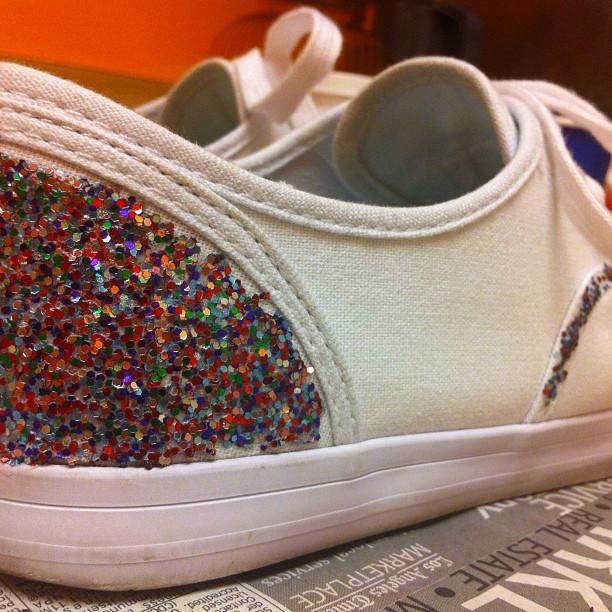 Diy Glitter Shoes Little Bits Of