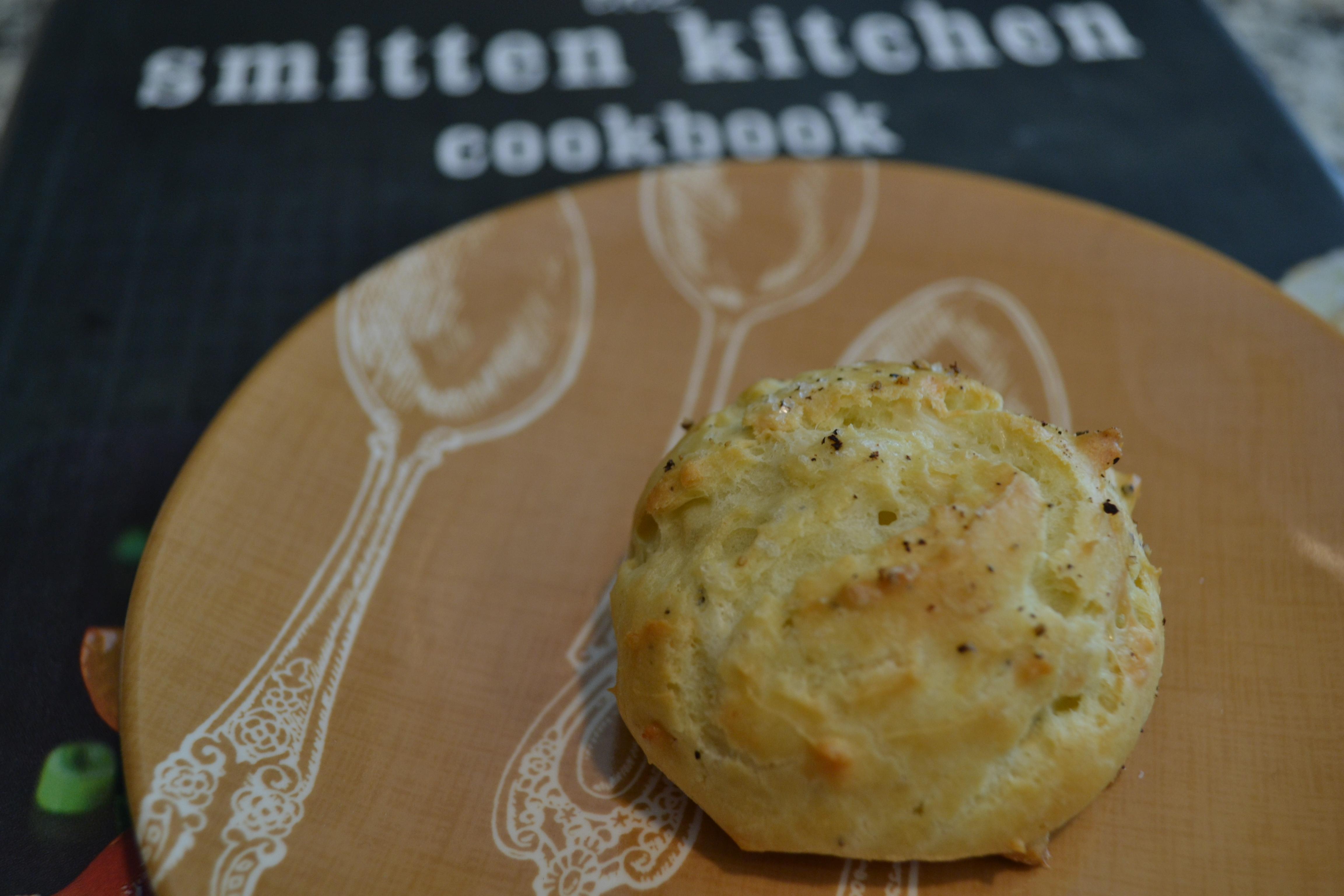 Smitten Kitchen Cookbook black pepper & blue cheese gougeres - little bits of