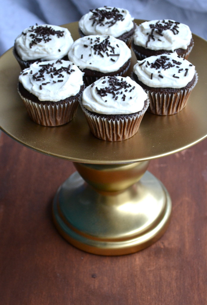 Rich Chocolate Cupcakes with Vanilla Bean Buttercream