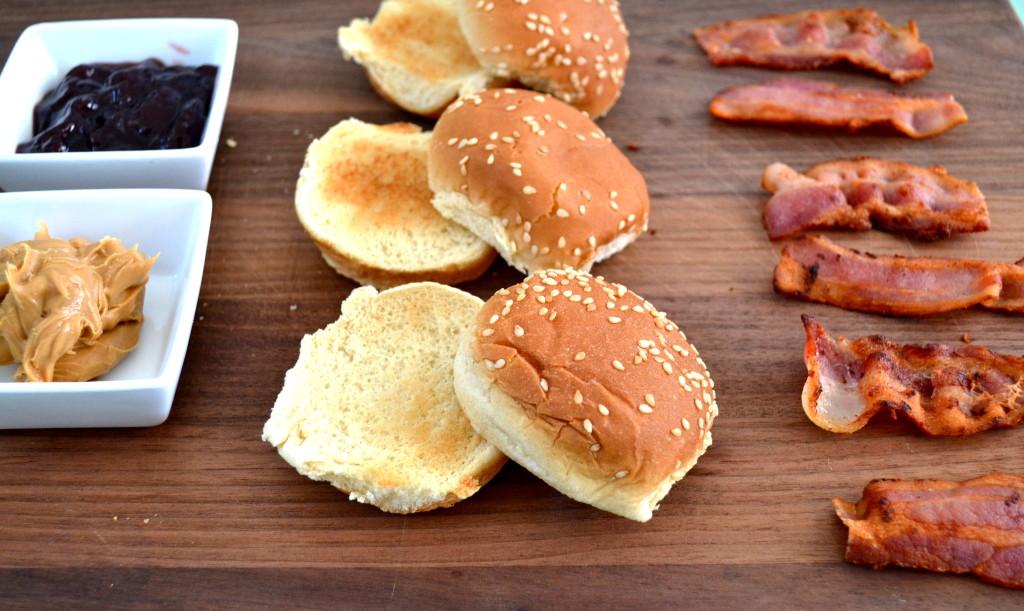 Peanut Butter, Jelly & Bacon Sliders