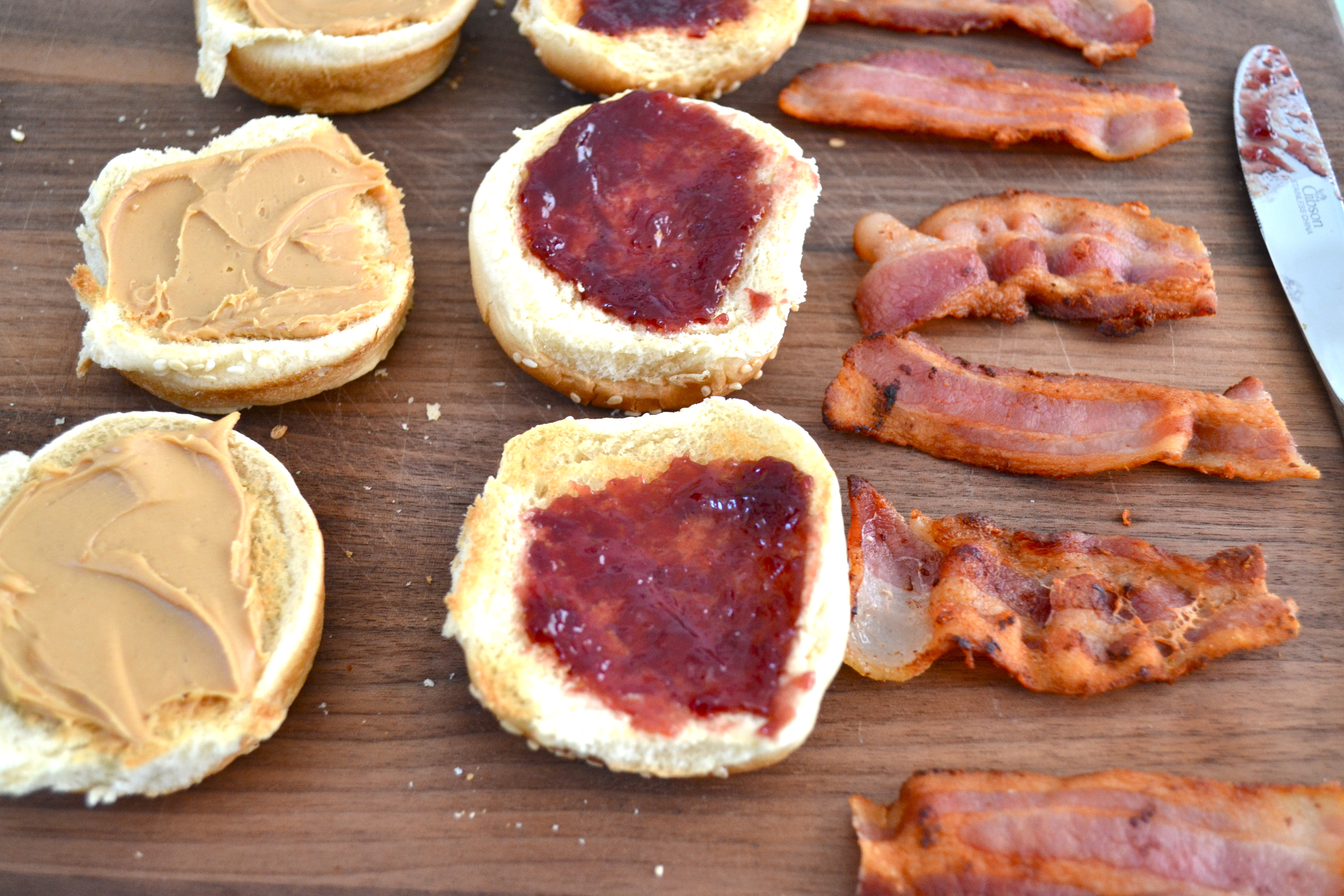 Peanut Butter Jelly Bacon Sliders Little Bits Of